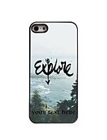 Personalized Gift Explore Design Aluminum Hard Case for iPhone 4/4S