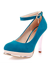 Women's Shoes Synthetic Stiletto Heel Heels/Basic Pump Pumps/Heels Office & Career/Dress/Casual Black/Blue/Red