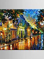 pittura a olio notte scena astratta mano tela con Stretched incorniciato dipinto