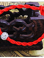 Women's Transshipment Beads Rope Chain With Red Line