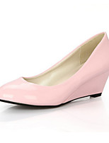Women's Shoes Patent Leather Wedge Heel Round Toe Pumps More Colors available