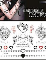 1 - Autres - Noir - Motif - 17*16 - en Papier - Tatouages Autocollants Adulte/Adolescent