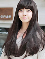 Japan and South Korea Fashion Wthin The Black Neat Bang Long  Straight Hair Wig