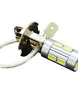 h3 5W 10LED 430lm 6500-7500k 5730 luz da lâmpada sinal carro SMD auto transformando lâmpada nevoeiro 12v branco