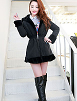 Women's Both Sides Wear Hooded Long Sleeved Thick Plush Coat