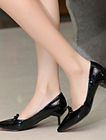 Women's Shoes  Kitten Heel Heels/Pointed Toe/Closed Toe Pumps/Heels Dress/Casual Black/Red/Animal Print