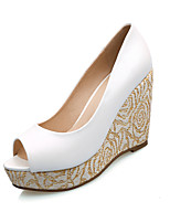 Women's Shoes Wedge Heel Wedges/Peep Toe Pumps/Heels Dress Blue/White