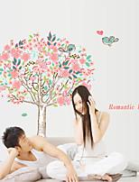 adesivos de parede do estilo decalques de parede de parede do amor da flor árvore adesivos pvc