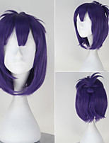 Seraph of the End Lacus Welt Synthetic Short Straight Light Purple Color Anime Cosplay Wig