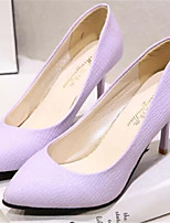 Women's Shoes Stiletto Heel Pointed Toe Pumps/ Dress Black/Pink/Purple/White/Beige
