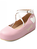 Women's Shoes Synthetic Flat Heel Round Toe Flats Office & Career/Dress/Casual