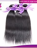 3Pcs Indian Virgin Straight Hair Unprocessed Human Hair Weaves #1B Color