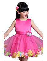 Girl's Summer Sleeveless Big Bow Petals Dresses