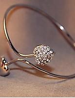 Women's Korea Style Silver Love Rhinestone Bracelet