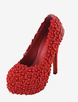 Women's Shoes Stiletto Heel Heels Pearl Pumps/Heels Wedding/Party & Evening/Dress Red