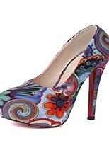 Women's Shoes Fabric Stiletto Heel Heels Pumps/Heels Casual Multi-color
