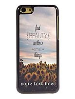 Personalized Gift Find Beauty Things Design Aluminum Hard Case for iPhone 5C
