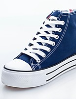 Women's Shoes Canvas Platform Comfort/Round Toe Fashion Sneakers Dress/Casual Black/Blue/White