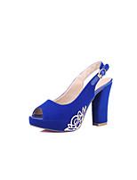 Women's Shoes Faux Suede Chunky Heel Heels/Peep Toe/Platform Sandals Office & Career/Dress/Casual Multi-color