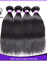 7A Unprocessed Super Brazilian Virgin Hair Straight 4 pcs/lot Virgin Brazilian Hair Weave Bundles