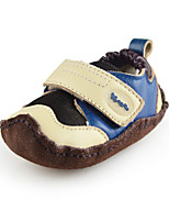 Baby Soft  Shoes Outdoor Toddlers Suede Loafers Blue/Pink with Velcro