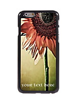 Personalized Gift Sunflower Design Aluminum Hard Case for iPhone 6