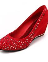 Women's Shoes Fleece Wedge Heel Heels Pumps/Heels Wedding Red