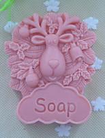 pecore animali muffa della torta della muffa del sapone del silicone del cioccolato fondente, attrezzi della decorazione bakeware