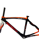 RB-NT28+FK-NG28 Neasty Brand 700C Full Carbon Fiber Frame and Fork 3K/12K  Weave Orange and White Neasty Logo 1-1/8
