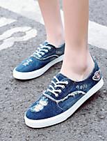 Zapatos de mujer Vaquero Tacón Plano Comfort/Bailarina/Punta Redonda Planos Oficina y Trabajo/Vestido/Casual Azul/Azul Marino