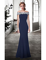 Formal Evening Dress Trumpet/Mermaid Off-the-shoulder Floor-length Lace Dress