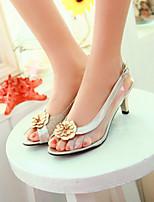 Women's Shoes Stiletto Heel Heels/Open Toe Sandals Dress Black/Silver/Gold