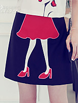 Pink Doll®Women's Casual/Print A-line Skirt