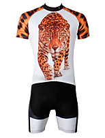 PaladinSport Men's Cycyling Jersey + Shorts  Bike Suits DT566 Leopard