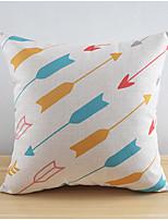 Modern Style Arrows Pattern Cotton/Linen Decorative Pillow Cover