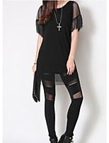 Women's Sexy/Beach/Casual/Party/Work/Plus Sizes Micro-elastic ½ Length Sleeve Long Blouse (Chiffon/Cotton)