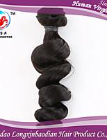 cheveux 16inch couleur naturelle de la vague lâche meilleur style fasion de vente 100% remy trame de cheveux humains péruvien pour les