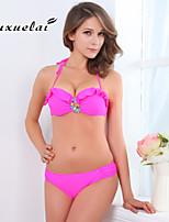 OUXL®Women's Underwire Bra/Padless Bra High Rise/Tassels/Floral/Solid/Bandage Bandeau Bikinis (Nylon/Polyester)