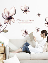 Wall Stickers Wall Decals Style Mangnolia PVC Wall Stickers