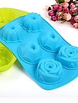 Rose Shaped Baking Molds Ice / Chocolate / Cake Mold (Random Color)