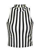 Women's Sexy Print Stretchy Sleeveless Short Vest (Polyester)