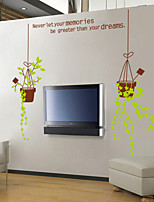 Wall Stickers Wall Decals Style Fresh Potted Plant PVC Wall Stickers