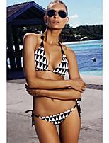 Women's Diamond Halter Two Pieces Swimsuit