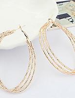 Vintage Alloy Multi-circle Pattern Earrings