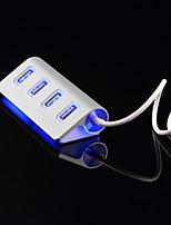 4 porte USB LED hud porta usb splitter in alluminio ad alta velocità di potere-bus per le periferiche del computer