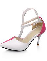Chaussures Femme-Habillé-Noir / Vert / Fuchsia-Talon Aiguille-Talons / Bout Pointu-Talons-Similicuir