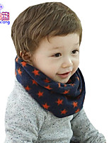 Waboats Winter Boys Girls Stars Yarn Neckerchief Baby Warm Scarf