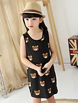 Girl's Summer Casual/Cute Bears Print Dresses