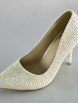 Women's Shoes Symphony Crystals Pumps/Pointed Toe Pumps/Heels Wedding/Party & Evening/Dress White