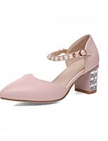 Women's Shoes  Kitten Heel Pointed Toe Pumps/Heels Office & Career/Dress Blue/Pink/White